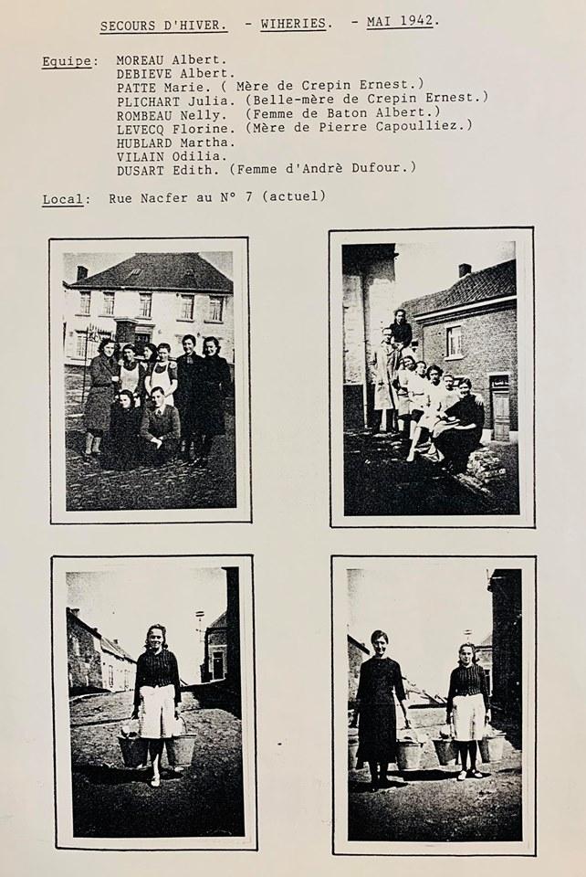 Secours d'hiver à Wihéries - mai 1942
