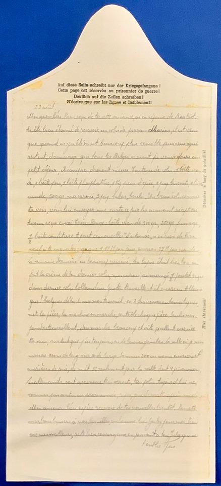 Lettre d'un prisonnier de guerre