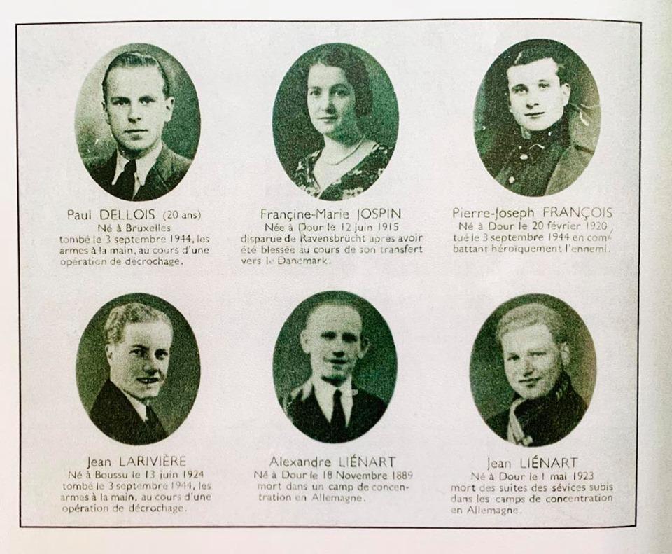 Quelques héros dourois dont Paul Dellois et Jean Larivière